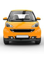 Yellow Small Car Front View